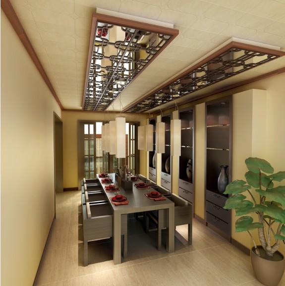 中式吊顶装修效果图高清图片